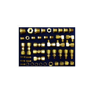 1/2 inch Brass DOT Air Brake Tubing Compression Kit