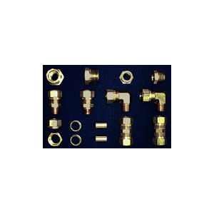 3/4 inch Brass DOT Air Brake Tubing Compression Kit