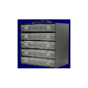 12 Compartment Plastic Box and Bin Rack (Holds 5 SP12-CLEAR Boxes)